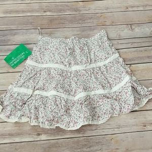 United Colors of Benetton Floral Skirt